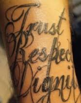 Tetování Písmo Motiv 6