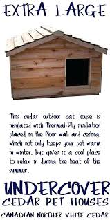 warm outdoor cat house heated outdoor cat house large extra insulated cedar shelter my home ideas