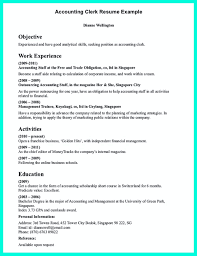 Clerical Resume Objectives Clerical Resume Sample Provides Your Chronological Order Of