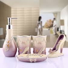 high heel shoe bathroom set. aliexpress.com : buy resin bathroom set of five pieces decoration and supplies kits fashion lady vivid heeled shoes jewelry lilac color from high heel shoe