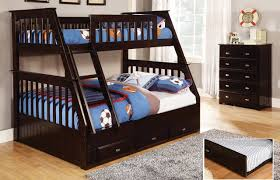 twin over full bunk bed with trundle in espresso chair and entertainment dresser desk hutch finish bunk bed desk trundle