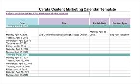Marketing Calendar Template 30 Free Excel Pdf Documents