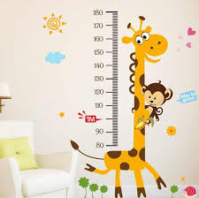 Children Kids Growth Chart Height Ruler Wall Sticker Ruler Growth Chart Wall Decal Height Measurement Sticker Decor Gift Giraffe