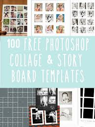 Free Photo Collage Template Free Line Collage Templates Hp Collage