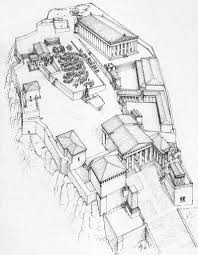 Id 3 src athens parthenon axonometric reconstruction of south side drawing m korres id 5 src athens parthenon drawing of ruins by j d le roy c