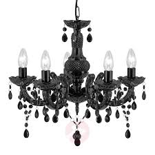graceful marie therese chandelier in black 8570919 01