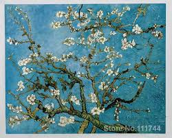 paintings by vincent van gogh almond blossom hand painted art on canvas high quality