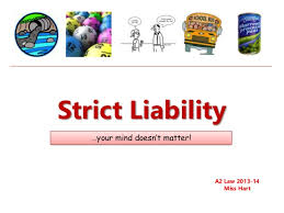 strict liability  strict liability your mind doesn t matter