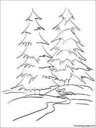 Winter Forest Coloring Page Coloring Pages