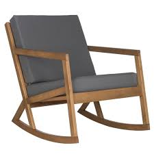 safavieh outdoor living vernon brown tan rocking chair by