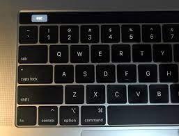 macbook pro touch bar stuck at black