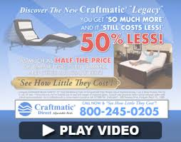 Craftmatic Beds New Pillow Rest Adjustable Beds to 50% Less