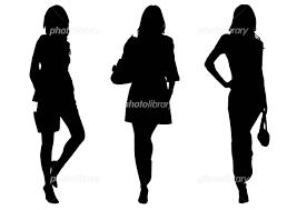 女性シルエット イラスト素材 310431 無料 フォトライブラリー