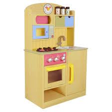 teamson kids little chef florence classic play kitchen wood grain com