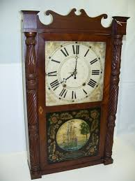 riley whiting wooden works clock