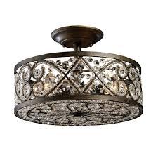 Elk Lighting Amherst Collection Titan Lighting Amherst 4 Light Antique Bronze Ceiling Semi