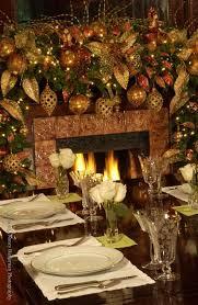 Living Room Gold Christmas Decoration Ideas