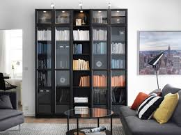Wall Units, Charming Living Room Storage Units Living Room Cabinets With  Doors Black Wooden And