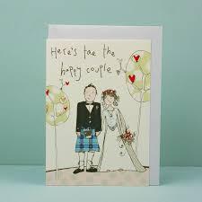 Hand Finished Scottish Wedding Card