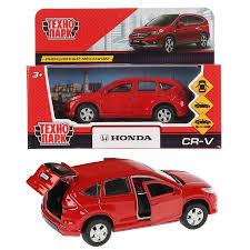 <b>Технопарк</b> Машина металлическая <b>HONDA</b> CR-V 12см красный ...