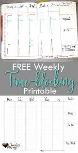 Calendar Blocking Template Weekly Time Blocking Set Up With Video Printable Template