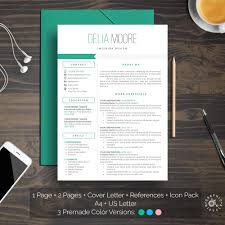 Professional Resume Template Instant Download Creative Resume