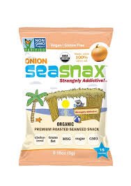 SeaSnax Organic <b>Toasty Onion</b> Grab & Go (6-Pack)