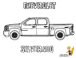 police truck coloring page chevy coloring pages coloring chevrolet silverado at yescoloring
