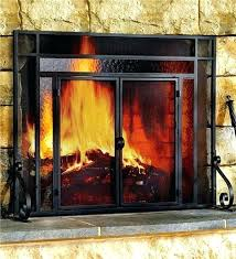 replacing fireplace glass attached images install fireplace glass doors
