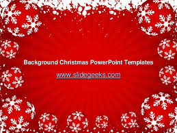 Background Christmas Powerpoint Templates