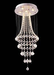 modern crystal pendant lighting. Saint Mossi® Crystal Rain Drop Chandelier Modern \u0026 Contemporary Ceiling Pendant Light 5 GU10 Bulbs Lighting