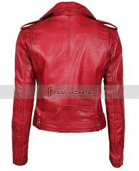 las biker jacket womens maroon jacket girls red leather jackets