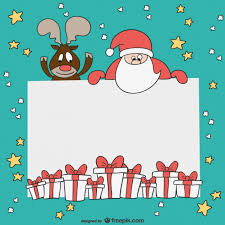 Christmas Card Template Vector Free Download