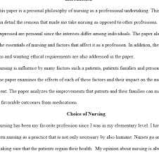 personal philosophy of nursing example edu essay