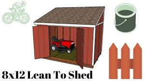 8 12 lean to shed plans