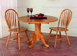 sunset trading 42 inch round drop leaf table with two arrowback 38 inch chairs