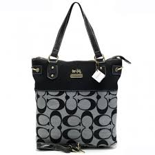 Coach Legacy In Signature Medium Grey Totes APY
