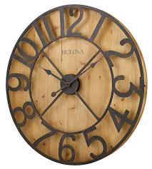 bulova c4814 shilhouette large wall clock the bulova barnboard
