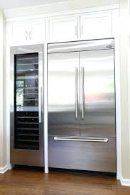 built in fridge cabinet awesome painted refrigerator panels kitchen cabinets intended for 0
