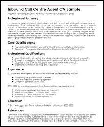 Call Centre Resume Template