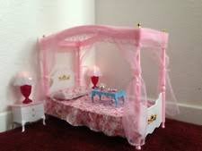 barbie dollhouse furniture sets. barbie size dollhouse furniture master bed room set sleeping doll play pink new sets