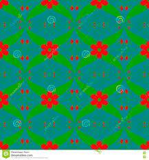 Rood Het Patroon Abstract Grafisch Behang Van Het Bloem Groen Blad