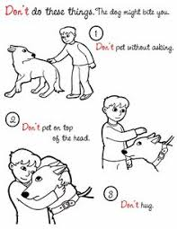 Small Picture Dog Safety coloring pages literature for kids Animal Rescue