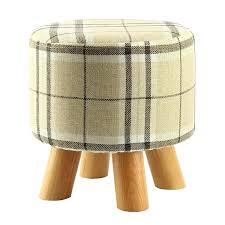 foot stool wood modern luxury upholstered footstool round pouffe stool wooden leg footstool with wood legs foot stool wood