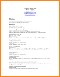 9 Fashion Stylist Resume Mla Cover Page