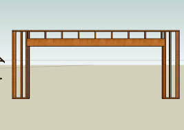 picture of framing the overhead door header and top plate