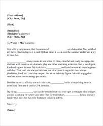 Sample Airforce Recommendation Letter nanny reference letter - Kleo.beachfix.co