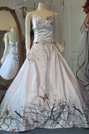line court train sweetheart satin camo wedding dresses c0039