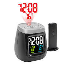 sharp weather station. sharp spc524s ac operated projection alarm clock with temperature and weather station l