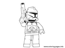 Lego Stormtrooper Star Wars Coloring Pages Printable